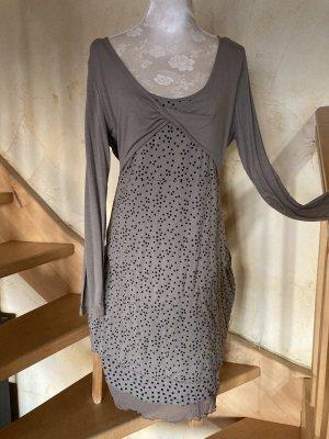 BC Collection Robe mi-longue gris-noir