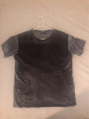 Stradivarius T-shirt argenté-gris