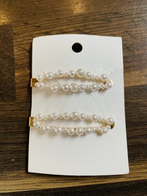 H&M Hair Clip gold-colored-white