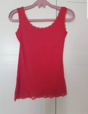 Giada Top di merletto rosso lampone