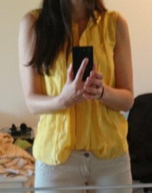 Weekend Max Mara Sleeveless Blouse yellow silk
