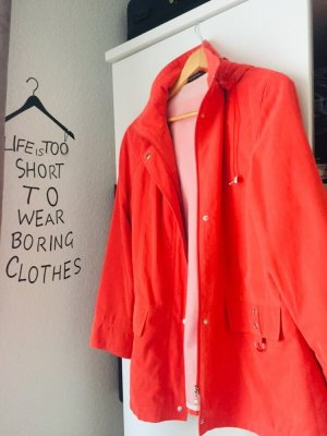 Concept UK Giacca con cappuccio rosso mattone