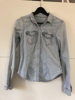 H&M Camicia denim azzurro