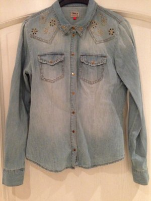 Only Denim Shirt azure-gold-colored