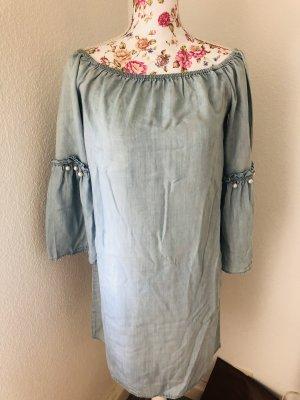 Only Fashion Jeansowa sukienka jasnoniebieski