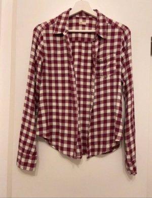 Hollister Lumberjack Shirt raspberry-red