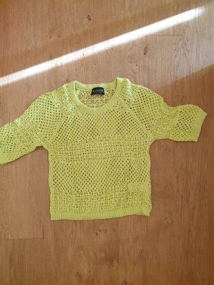 Laura Scott Gehaakt shirt weidegroen Gemengd weefsel