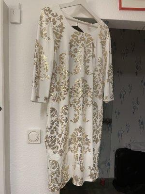 BODY FLIRT Sukienka ze stretchu w kolorze białej wełny-jasnobeżowy