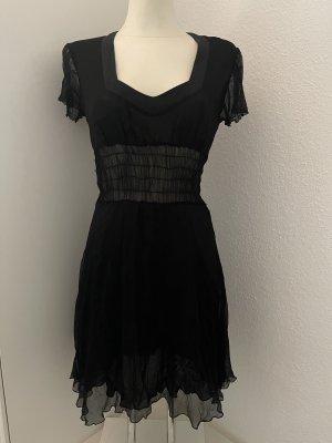 Patrizia Pepe Vestido de chifón negro