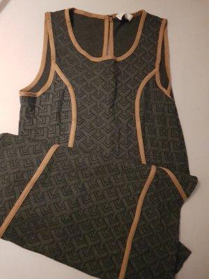Cream Sukienka dresowa ciemnoszary-jasnobrązowy