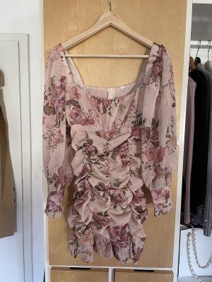 Midi-jurk roségoud