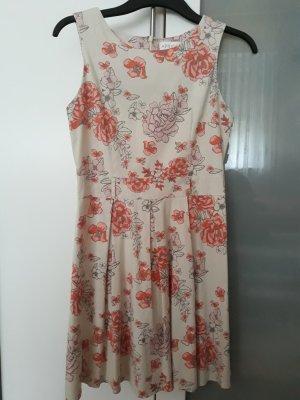 Apricot Shortsleeve Dress oatmeal-salmon