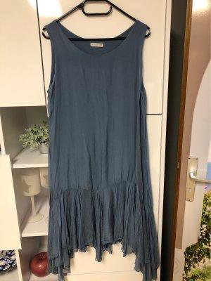 0039 Italy Vestido de manga corta azul aciano