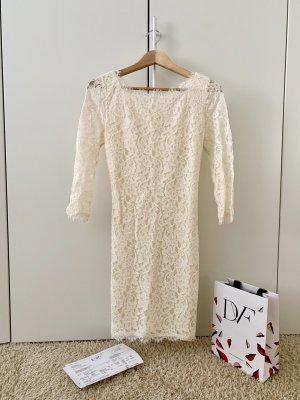 Diane von Furstenberg Lace Dress oatmeal