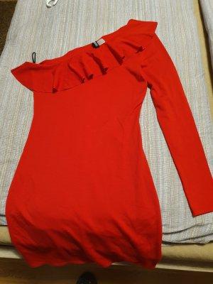 Amisu Sukienka na jedno ramię czerwony