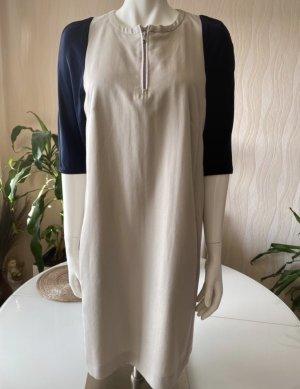Blacky Dress Robe découpée beige clair-bleu foncé