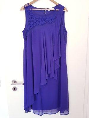 schönes Kleid Gr. 46 von Sheego in blau-violett