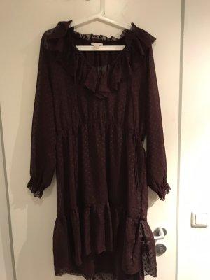 Schönes Kleid in Bordeauxrot leicht transparent