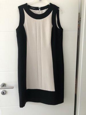 Schönes Kleid in Gr. 42 Beige/ schwarz