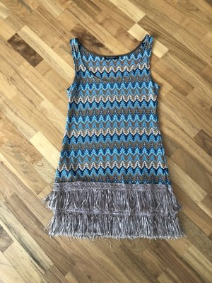 Rinascimento Fringed Dress multicolored