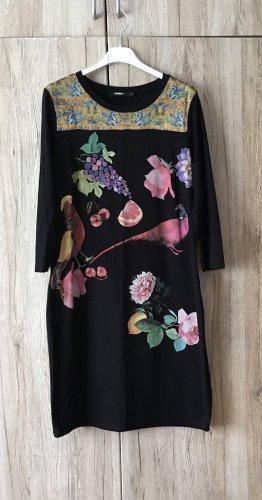 Desigual Stretch jurk zwart-zandig bruin