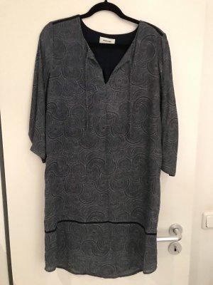 Modström Vestido de manga larga blanco puro-azul oscuro