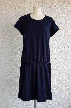 Robe en jersey bleu foncé coton