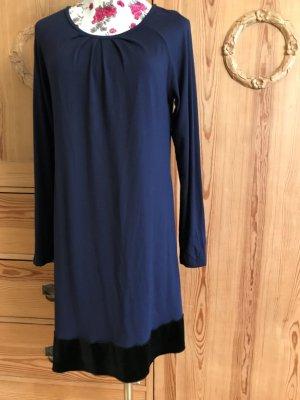 Longsleeve Dress dark blue viscose