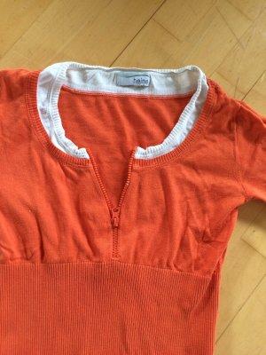 Schönes Kurzarm Shirt Mandarine Gr. 36 Heine