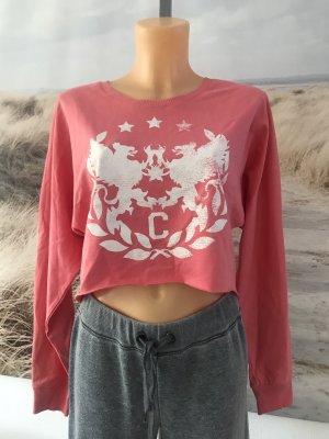 Schönes kurzes Sweatshirt * weite kastige Form * mit großem Druck