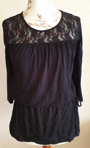 Schönes Langarm Shirt mit Spitze von Gina Benotti Gr. S