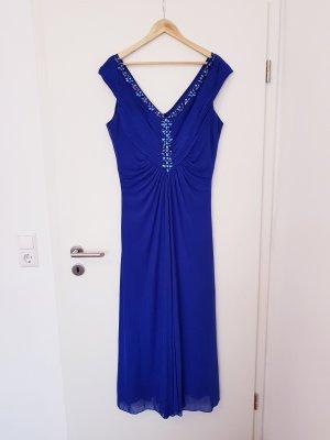 schönes langes Kleid mit V Ausschnitt Gr. 46 von asley brooke