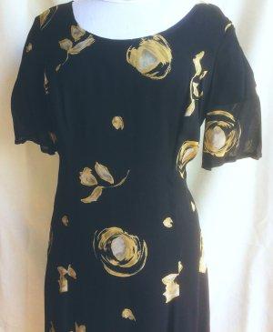 Maßanfertigung Szyfonowa sukienka czarny-kremowy