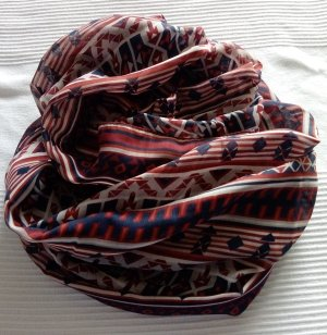 ***Schönes leichtes Loop-Schal-Tuch im blau rot ca.: 160 x 70 cm***