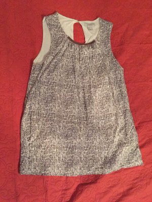 H&M Neckholder Top grey-light grey