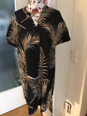 Schönes Leinenkleid H&M schwarz Gr. 40