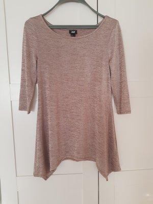 schönes Longshirt von H&M in rosegold Gr.36/38