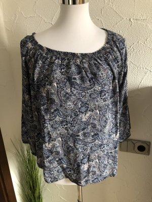 Takko Camisa tipo Carmen azul-blanco