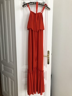 Free People Maxi Dress red-brick red mixture fibre