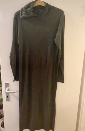 Made in Italy Hooded Dress dark grey