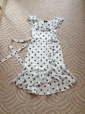 Schönes Midikleid Object Sommerkleid Gr. 36 €70 weiß schwarz