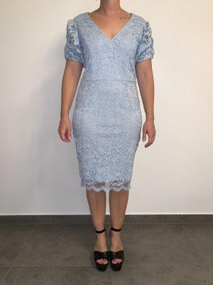 Marina Vestido de encaje azul claro