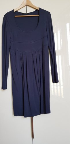 Nice Connection Vestido estilo camisa azul oscuro