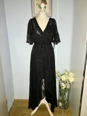 Schönes neues schwarzes Abenddesignerkleid