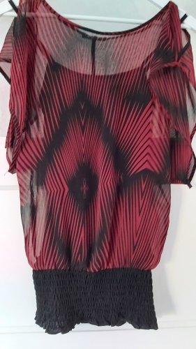 Jennifer Taylor Haut en soie noir-rouge carmin
