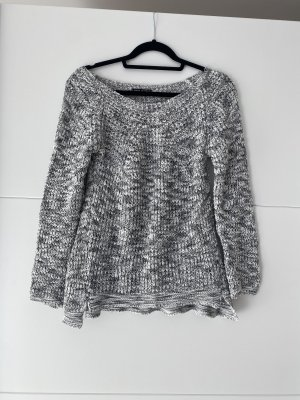 Made in Italy Jersey largo blanco-gris