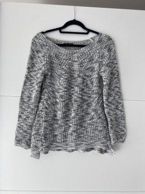 Made in Italy Lange jumper wit-grijs