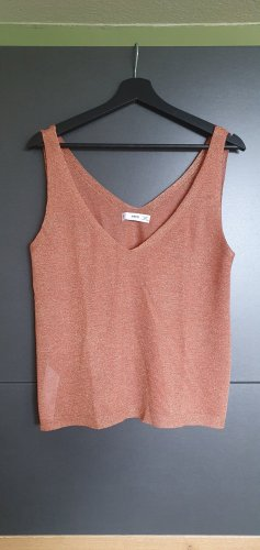 MNG Knitted Top rose-gold-coloured viscose
