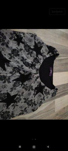 Studio Anneloes Top de encaje negro-blanco tejido mezclado