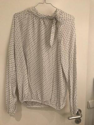 Blouse avec noeuds blanc-gris clair